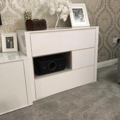 White Gloss Living Room Furniture Next Bench Seating Storage Lounge Tv Stand In Rochdale Manchester