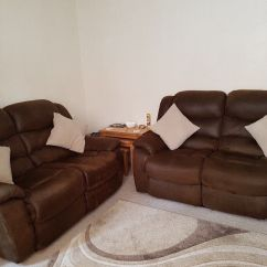 Two Seater Recliner Sofa Gumtree Catnapper Power Reclining Reviews 2 Sofas In Margate Kent