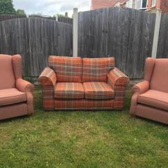 Recliner Chairs Gumtree Lsu Rocking Chair Cushions Next Tartan 2 Seater Sofa And Two Sherlock | In Rotherham, South Yorkshire