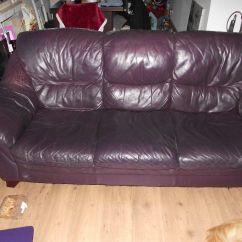 Aubergine Leather Sofa Pier One Alton Fjellkjeden