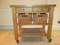 TABLE Servus solid beech butcher's block / kitchen trolley ...