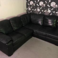 Milano Leather Dual Facing Corner Sofa Group Black Vs Fabric Reddit Ashmore Right Hand In