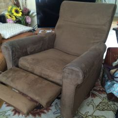 Recliner Chairs Gumtree Ergonomic Desk Chair No Wheels Ikea Reclining Suede Reduced In Hersham