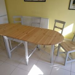 Dining Room Table And Chairs Gumtree Retro Expandable With Four Ikea Gamleby