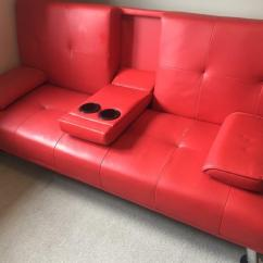 Sofa Armrest Drink Holder Leather Suppliers Uk Red Bed Cuba Next Day Delivery
