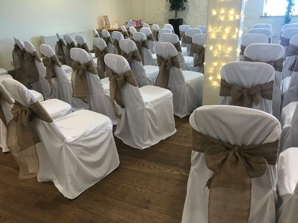 chair covers wedding costs seat cushions for office chairs target 122 white loose fitting cost over 400 new used once