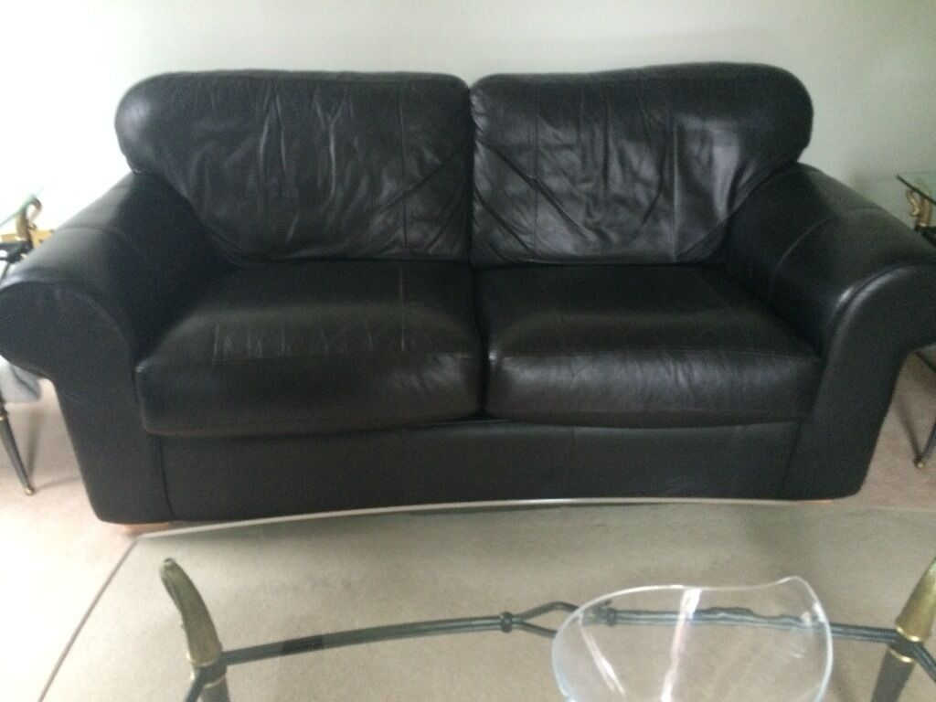 leather sofa bed with sprung mattress macys sheets double good quality buy sale and trade ads