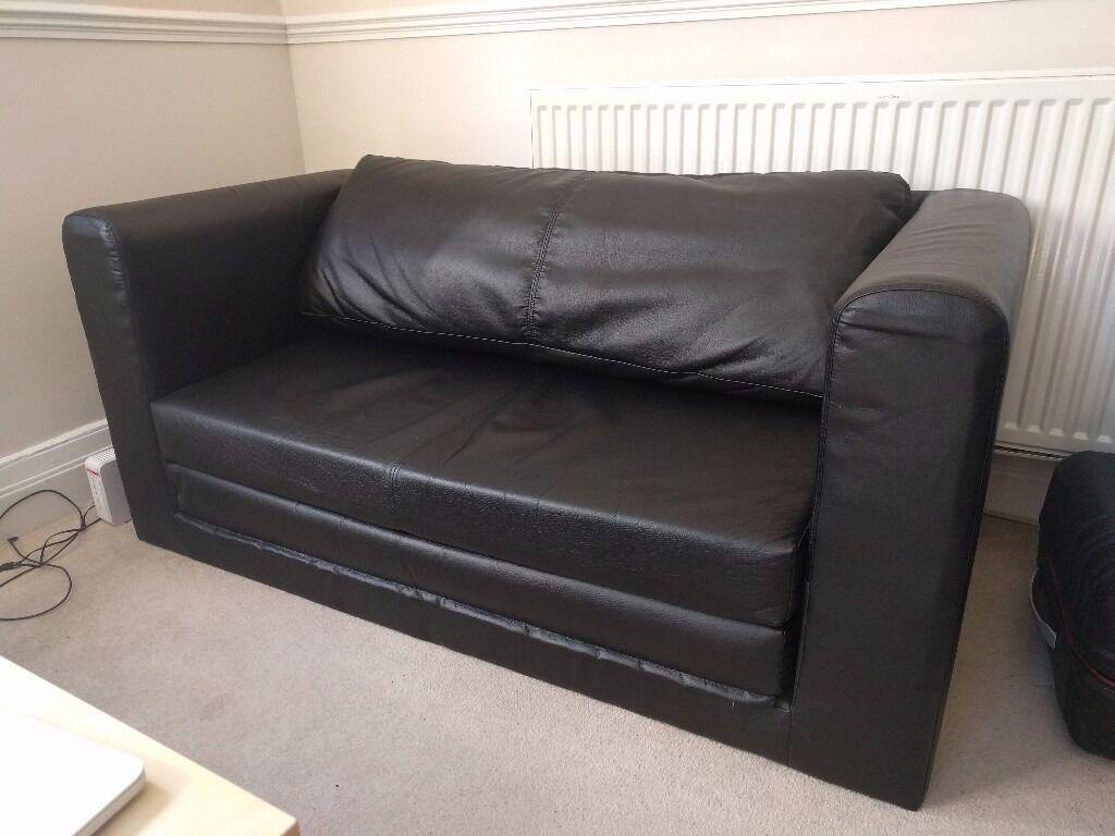 solsta sofa bed ransta dark gray 169 00 distressed leather two seat ikea askeby black excellent condition