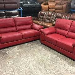 Sofa Beds On Gumtree Boston Csl Ex Display Red Leather 2 And 3 Seater Sofas | In ...