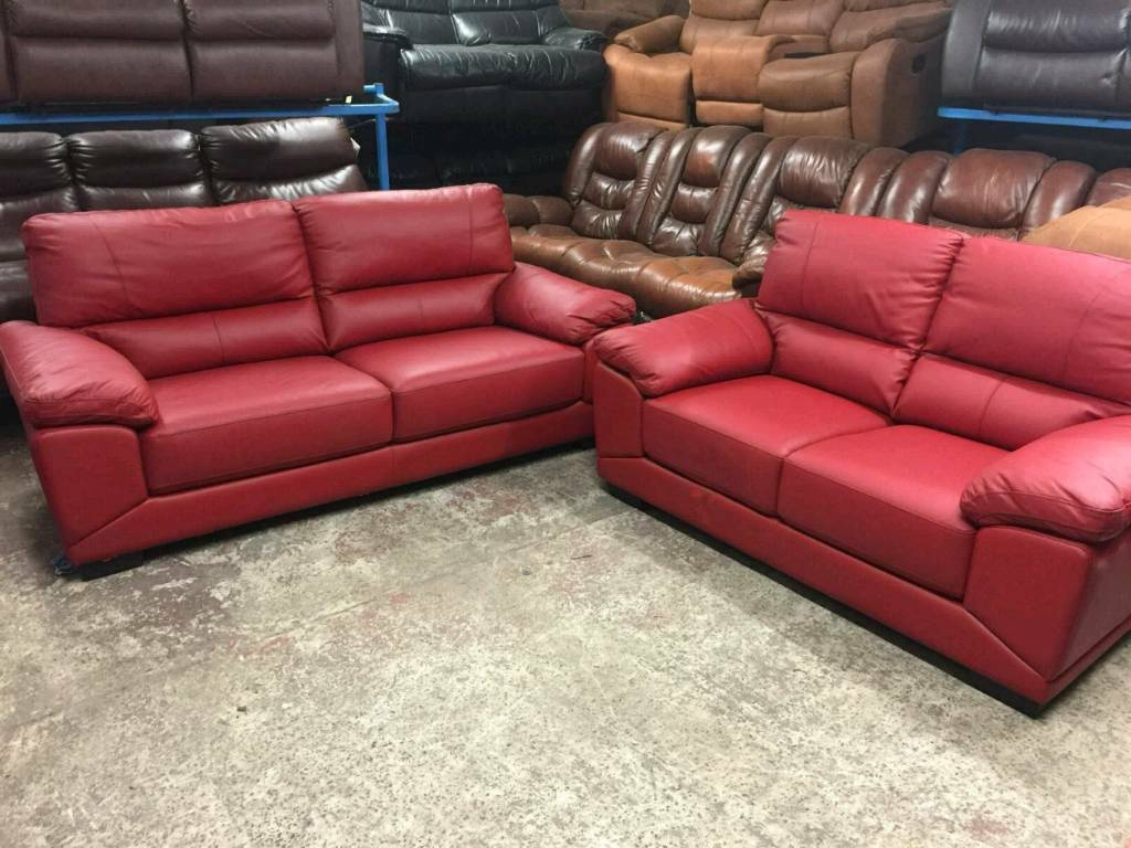 red leather sofas gumtree manchester dark grey fabric sofa set csl ex display 2 and 3 seater in