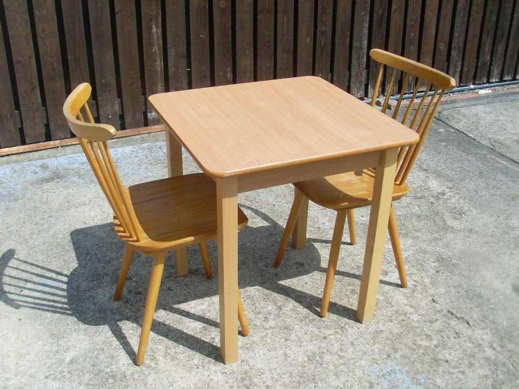Small Kitchen Table With 2 Chairs Small Kitchen Table And 2 Pine Chairs In Chester Le