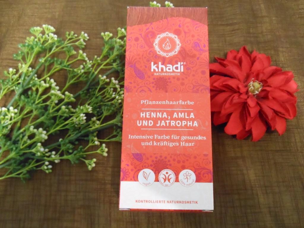 (6,60€/100g) khadi Pflanzenhaarfarbe Henna, Amla & Jatropha 100g