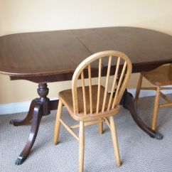 Round Kitchen Table And Chairs Set Cabinets Refacing Cost Strongbow Vintage Antique Extending Old Oval Solid Dark ...