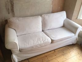 White IKEA Ektorp two seater sofa bed   in Southville ...