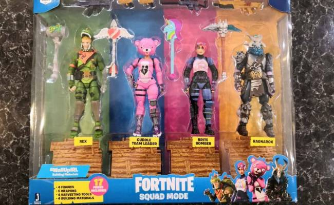 Rare Official Epic Games Fortnite Squad 4 Pack In