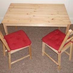 Ikea Chair Cushions Kids Canopy Ingo Table And 2 Ivar Chairs With Malinda