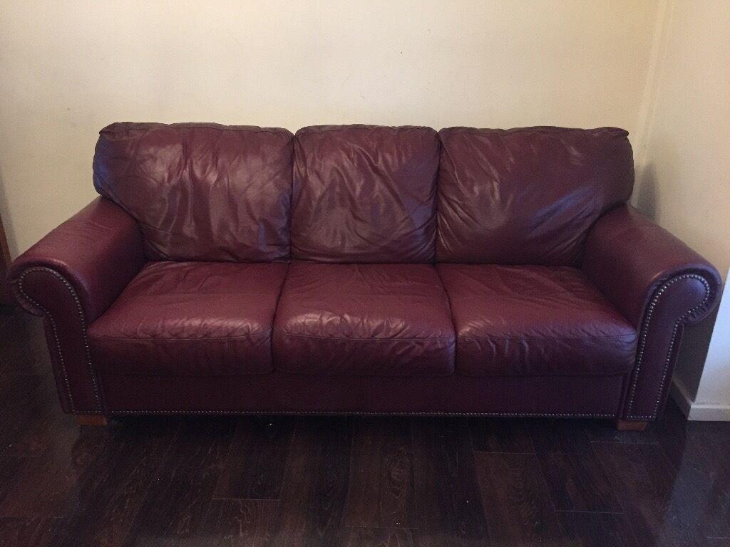 burgundy leather sofa and loveseat corner reviews uk in solihull west midlands gumtree