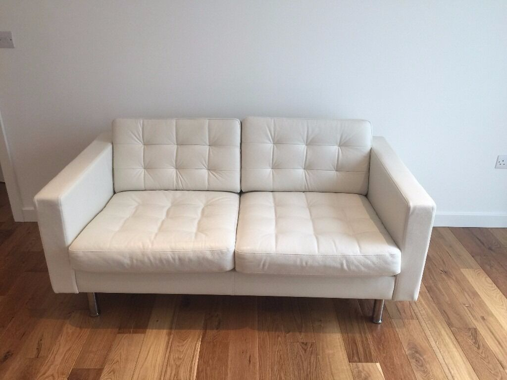 can you clean white leather sofas sofa slipcovers clearance two seat landskrona metal feet in