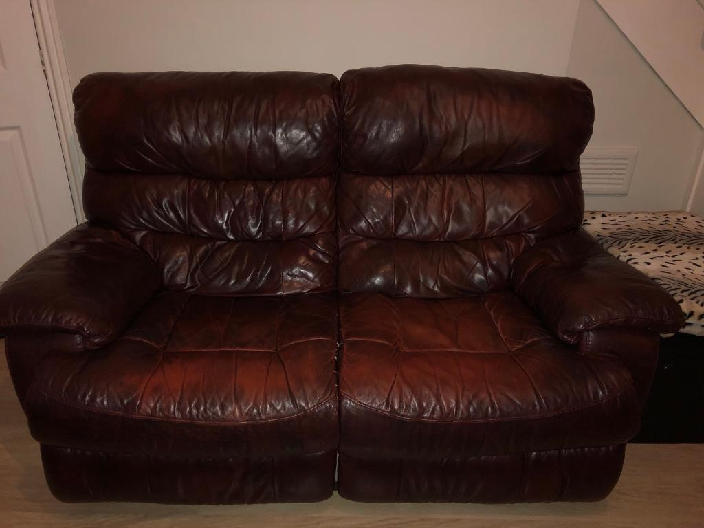 electric recliner sofa not working mini set leather sofas maroon 3+2 seater free | in preston ...