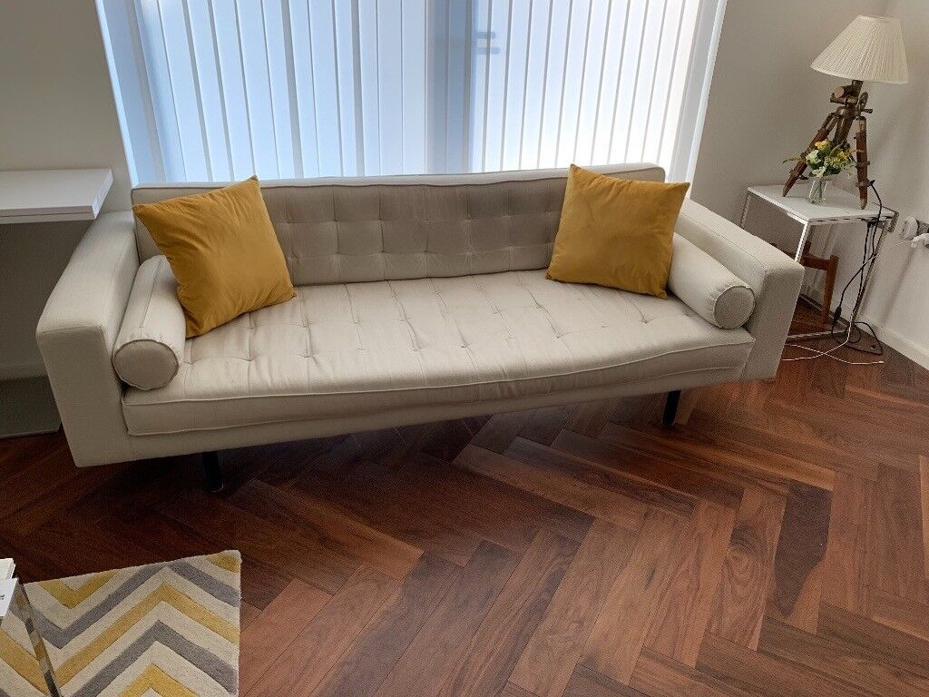 sofa london gumtree crate and barrel margot made fielding 3 seater mid century in