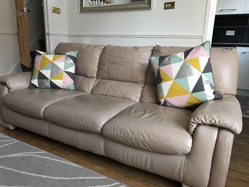 second hand corner sofas leeds sofa ersatzteile three seat beige cream nude leather in rodley west