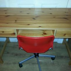 Swivel Chair Uk Gumtree Living Room Chairs Canada Solid Pine Desk And Ikea In Leyland