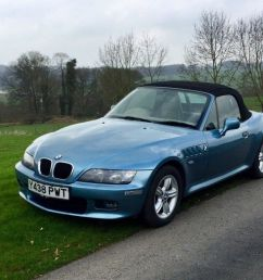 bmw z3 roadster 2 2i james bond blue with cream leather interior one lady owner low mileage  [ 1024 x 768 Pixel ]