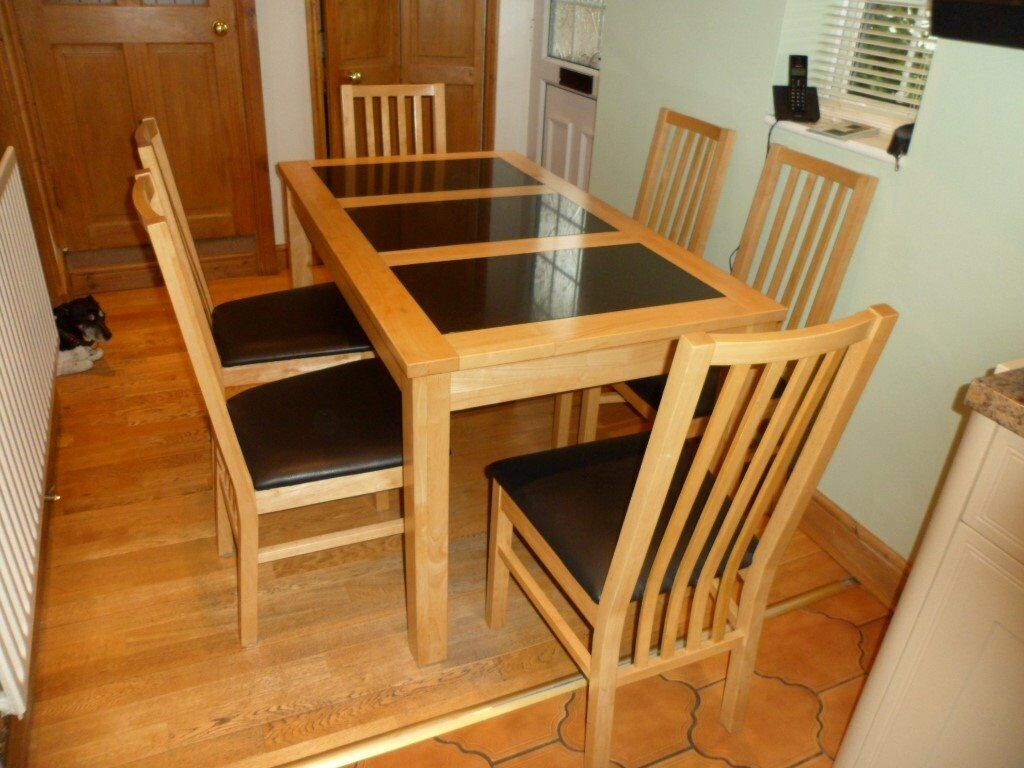 kitchen table with leaf insert round sets for 6 seater light oak dining granite inserts and