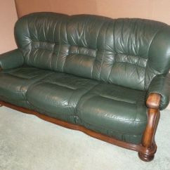 Velvet Chesterfield Sofa Suite Overnight Green Leather 3 Piece Seater & 2 Armchairs ...