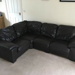Dfs Brown Half Leather Corner Sofa Cheap Sofas Swansea And Reclining Electric Chair