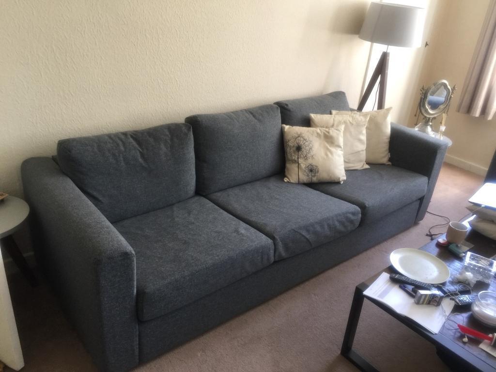 grey arm chair x rocker pro series pedestal wireless game ikea vimle 3 seater sofa   in pinner, london gumtree
