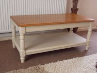 SHABBY CHIC COFFEE TABLE PAINTED IN ANNIE SLOAN OLD OCHRE ...