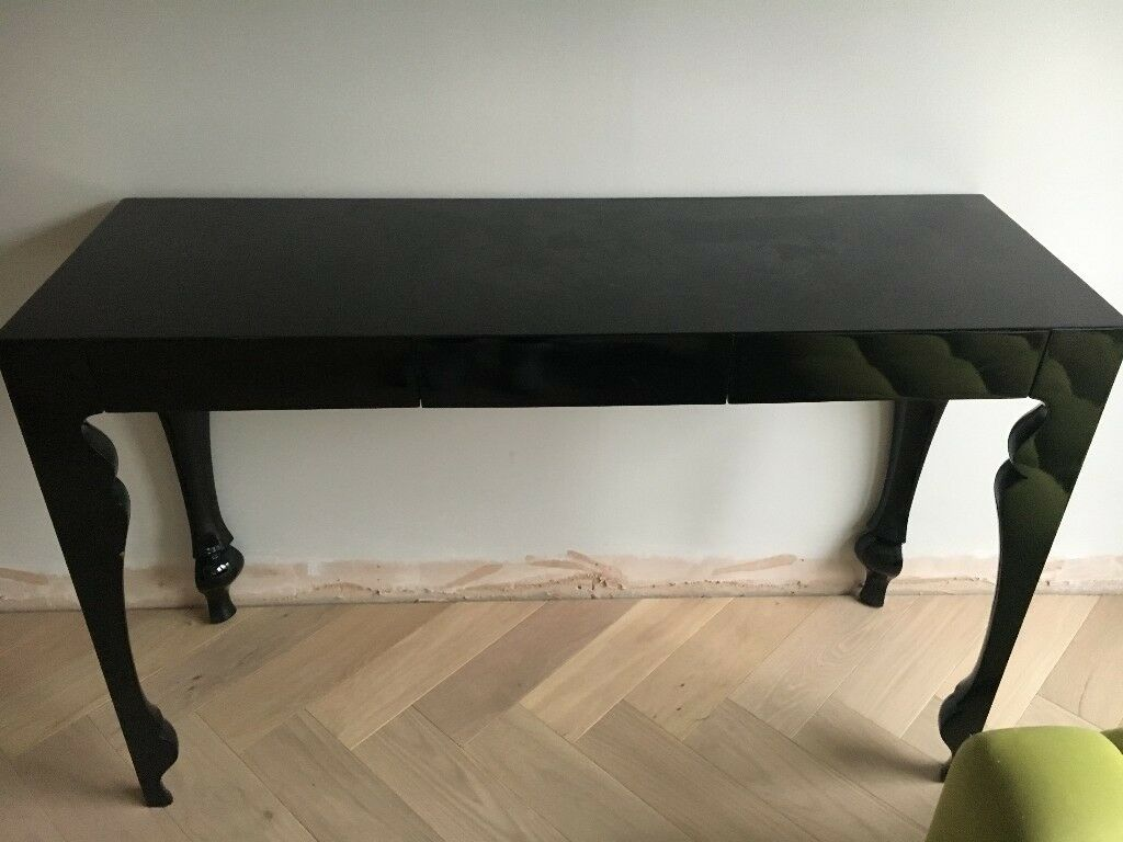black lacquer sofa table 140cm wide bed heals louis console in richmond london gumtree