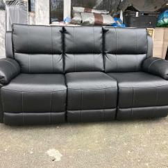Harveys 3 Seater Recliner Sofa Leather Bed Montreal Harvey 39s Bel Air Black Three Couch
