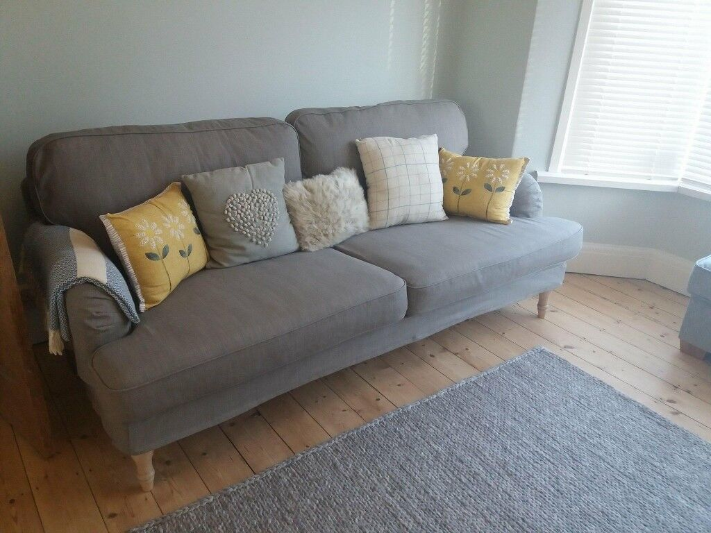 sofas for sell leather fabric sofa 2 ikea 3 seater stocksund grey beige bought 2017 never