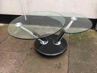Black Glass and Chrome Swivel Coffee Table | in Leicester ...