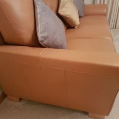 Tan Leather Sofa And Loveseat Wooden Carved Set Designs Armchair In Livingston West