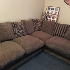 Dfs Corner Sofa Grey Fabric Gingham Slipcovers In Barnstaple Devon Gumtree