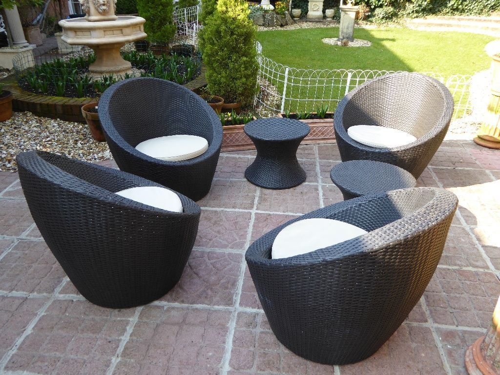 Egg Shaped Wicker Chair Garden Furniture Rattan 39egg 39 Garden Lounge Set In
