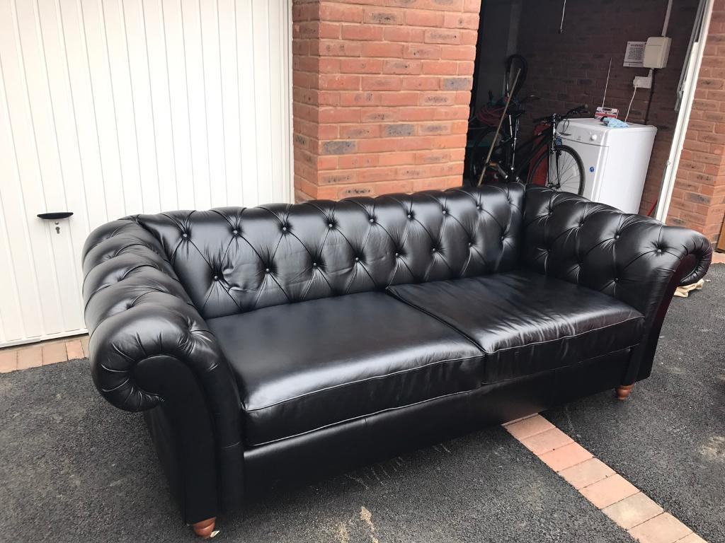 sofa collection charity leicester decorating with sage green next black leather chesterfield in