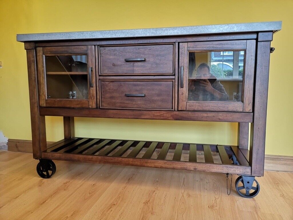 costco kitchen island metal chairs wine cabinet rack unit in mold