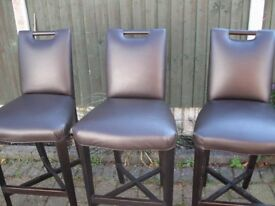 bedroom chair gumtree ferndown aluminum kitchen chairs reclining massage cream in dorset 3 faux leather bar stools