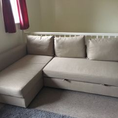 Friheten Corner Sofa Bed Skiftebo Beige Broyhill Sectional Covers Ikea With Storage In