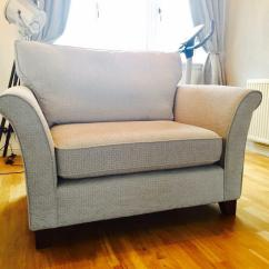 Brown Fabric Corner Sofa Dfs Stanley Pune Next 2 Seater Brompton Snuggle Chair New | In ...