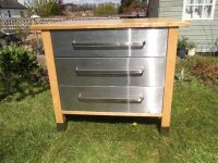 REDUCED !!! IKEA VARDE Freestanding 3 drawer stainless ...