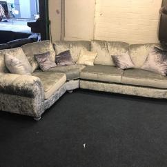 Brown Leather Recliner Sofa Uk Clic Clac Bed Black Faux Scs Quantas Silver Scrubbed Velvet 2 X 1 Corner Deep ...
