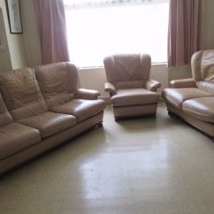 Leather Sofa Set 3 1 Tylosand Review Beige Piece Suite 2 Seater Pale