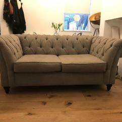 Chesterfield Style Fabric Sofa How Do I Repair A Tear In Leather Grey Hove East Sussex Gumtree