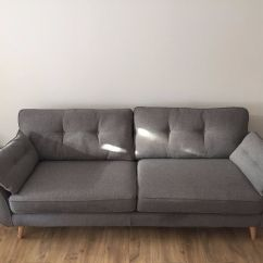 Black Leather Sofas On Gumtree Sectional With Recliners Lazy Boy Dfs French Connection Zinc 4 Seater Grey Sofa | In ...