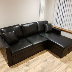 Black Leather Sofa Bed Argos Mickey Mouse Set Home Reagan Right Corner Faux In